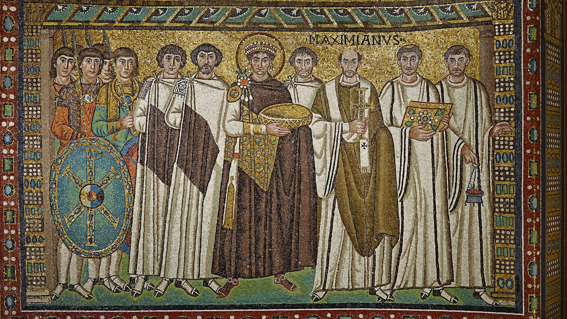 Basilica di San Vitale: il corteo di Giustiniano