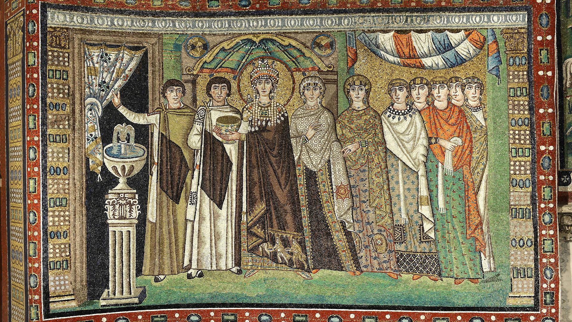 Basilica di San Vitale: il corteo di Teodora